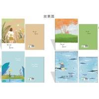 朝阳D32K40型,卡通软抄本(1/10/680)学生软抄本/胶装软抄本/学生笔记本